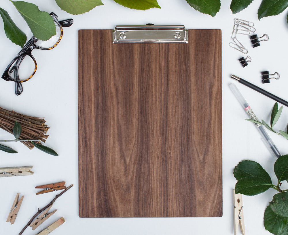Clipboard | Les Classics: Blank Walnut - Lemonee on the Hills