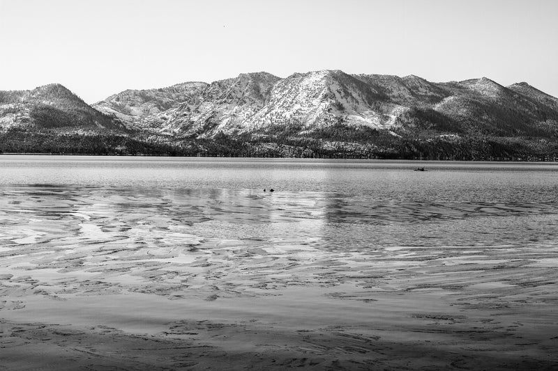 Matte Print | Black and White: Winter on Lake Tahoe - Lemonee on the Hills