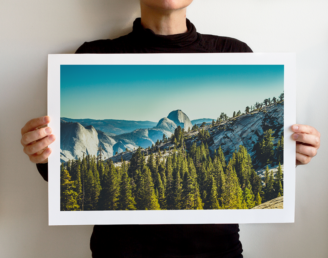 Matte Print | Les Classics: Yosemite 8433 - Lemonee on the Hills
