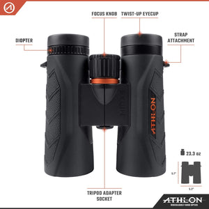 Athlon Midas G2 UHD 10x42 Binoculars - Ridge View Optics