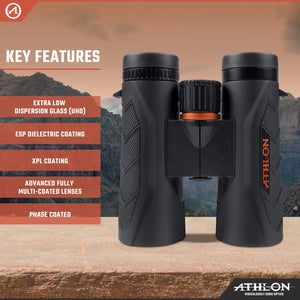 Athlon Midas G2 UHD 8x42 Binoculars - Ridge View Optics