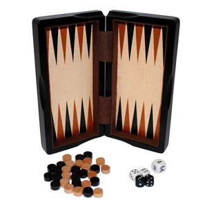 "8"" Magnetic Ebony Wood 3 in 1 Game Set"
