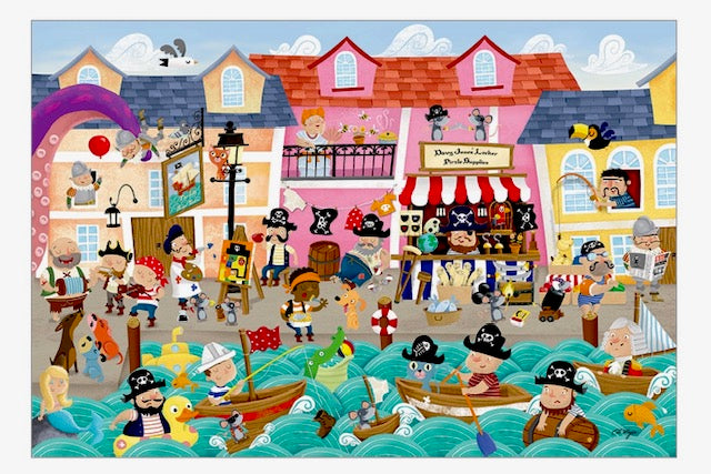 Pirates on Vacation Floor Puzzle
