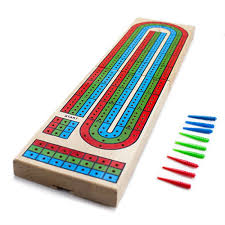 3 Track Color Cribbage Board