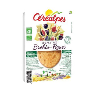 Galettes Brebis Figues 2x90g Cerealpes