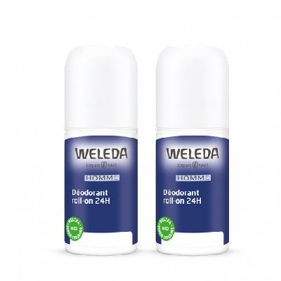 Duo Deodorant Roll On 24 H Homme  Weleda