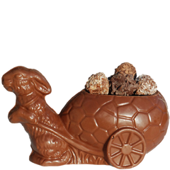 Bunny With Wagon Filled With Chocolates
