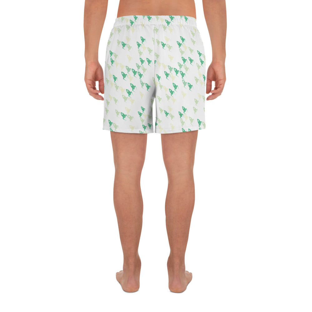 Leafy Green Rockets - Strange Legacy - Men's Athletic Long Shorts