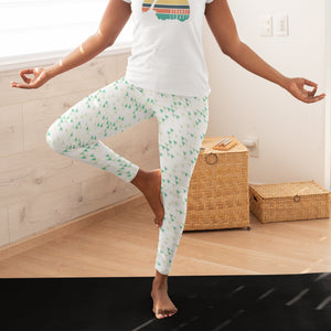 Open image in slideshow, Leafy Green Rockets - Strange Legacy - Yoga Leggings