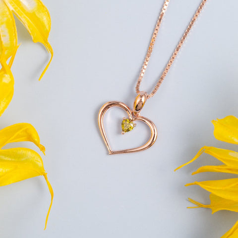 Gold Plating Heart Pendant Necklace