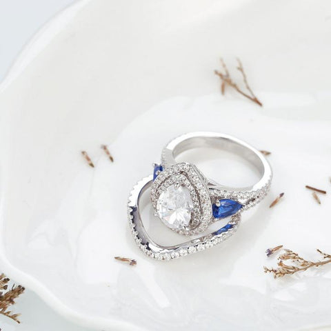 rings with blue birthstone