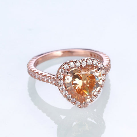 rose gold ring with birthstone