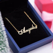 Sterling Silver Elegant Name Necklace with Gold Plating