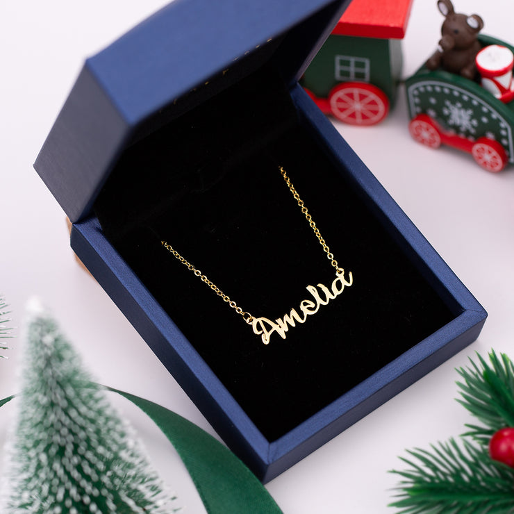 Personalized Cursive Name Necklace in Gold Plated Silver