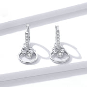 Agile Butterfly Sterling Silver Drop Earrings