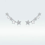 An Array Of Stars White Gold Ear Climbers