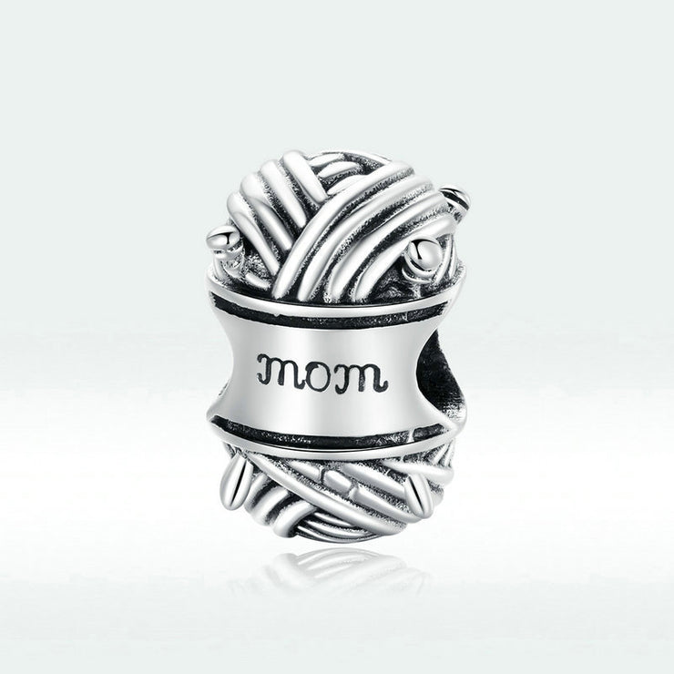 Ball Of Yarn Sterling Silver Charm Bead