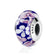 Blue Plum Murano Glass Charm Bracelet Bead