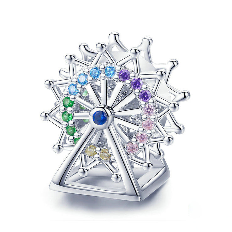 Colorful Ferris Wheel Sterling Silver Charm Bead