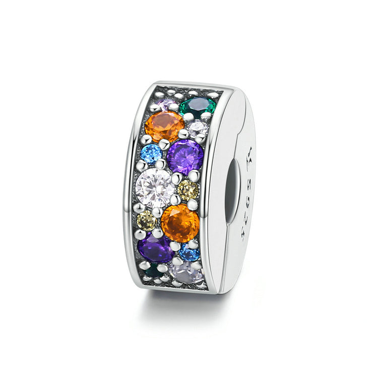 Colorful Garden Sterling Silver Clip Charm