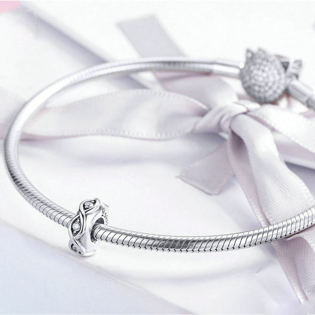 Creative Sterling Silver Bracelet Spacer Charm