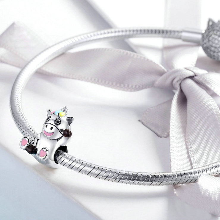 Cute Animal Series Sterling Silver Bracelet Charm