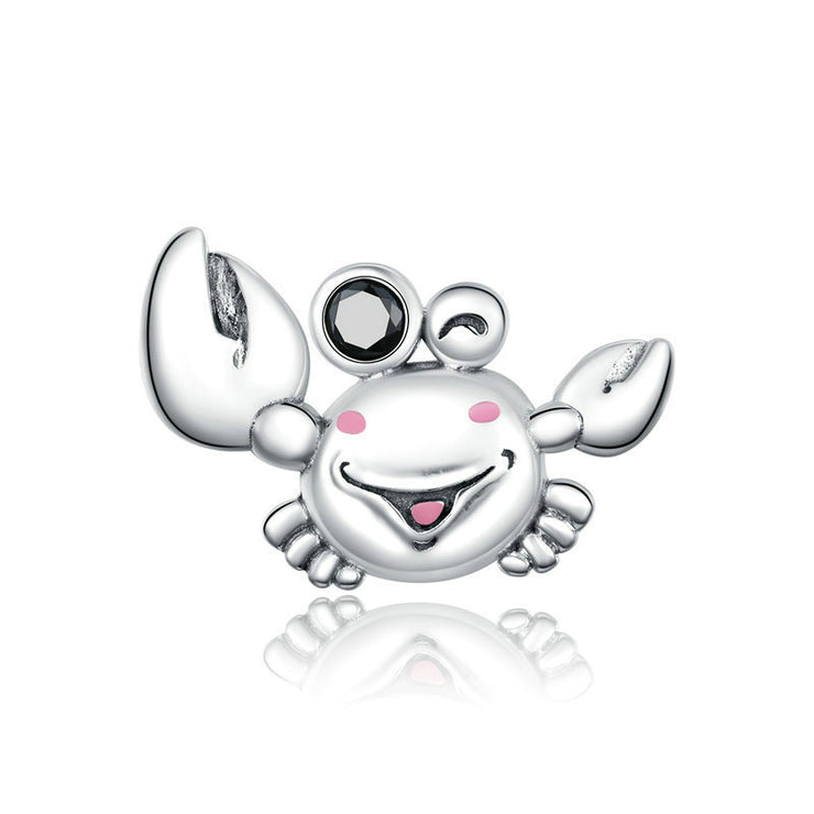 Cute Little Crab Sterling Silver Charm Bead