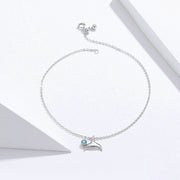 Fashion Mermaid Tail Sterling Silver Anklet