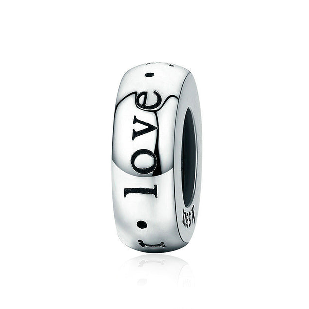 Forever Love Sterling Silver Charm Spacer Bead