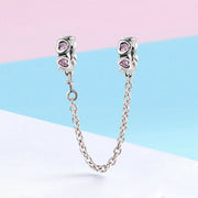 Fragrant Heart Sterling Silver Safety Chain Charm