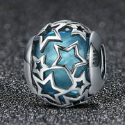 Gorgeous Starry Sky Sterling Silver Charm Bead
