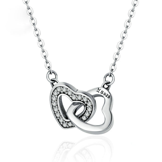Heart to Heart Sterling Silver Fashion Necklace