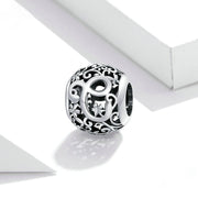 Hollow Letter C Retro Pattern Charm Bead