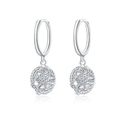 Hollow Woolen Balls Sterling Silver Drop Earrings