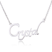 Gold Color Personalized Cursive Name Necklace in Sterling Silver