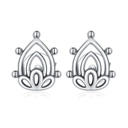 Lotus Flower Buds Sterling Silver Stud Earrings