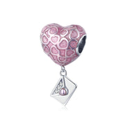 Love You Slowly Sterling Silver Heart Bead