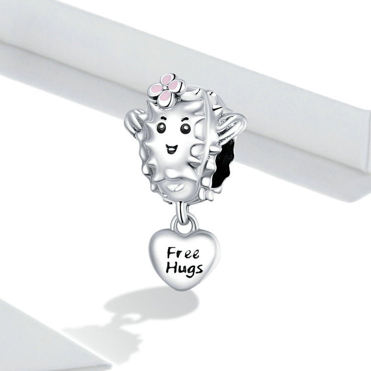 Lovely Succulent Sterling Silver Plant Charm Bead