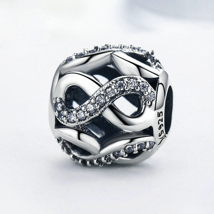 Number 8 Sterling Silver Ball Charm Bead