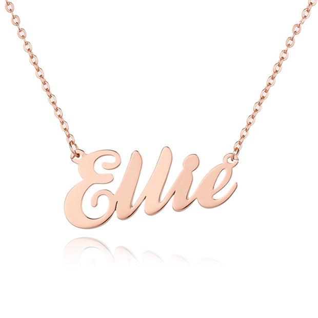 Gold Plated Sterling Silver Classic Name Necklace
