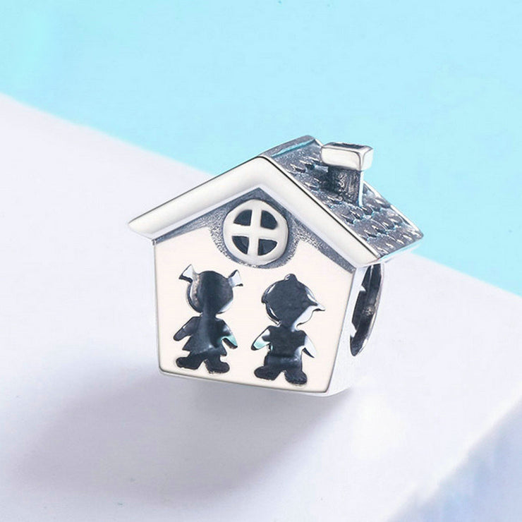 Perfect Life Loving Family House Charm Bead