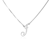 Personalized Custom Initial Necklace In Sterling Silver