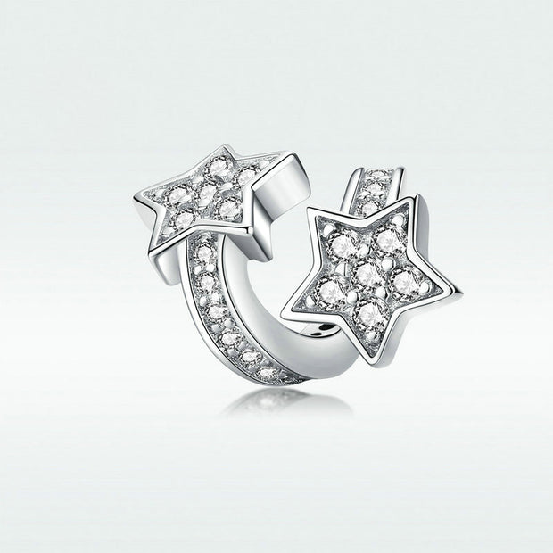 Personalized Star Charm In Sterling Silver