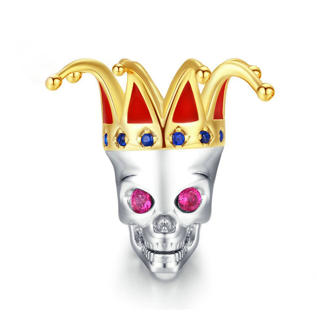 Skeleton Queen Sterling Silver Handmade Charm Bead