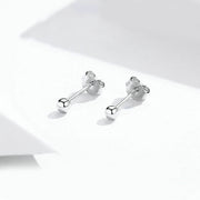Small Ball Sterling Silver Handmade Stud Earrings