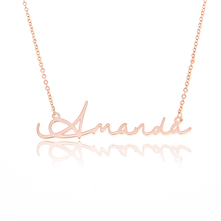 Sterling Silver Classic Name Necklace in Gold Plating