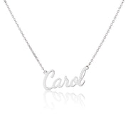 Sterling Silver Extra Thick Silver Name Necklace