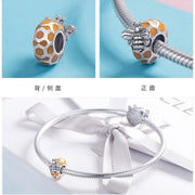 Sterling Silver Handmade Bee Charm Spacer Bead