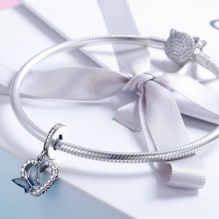 Sterling Silver Butterfly Dream Bracelet Charm