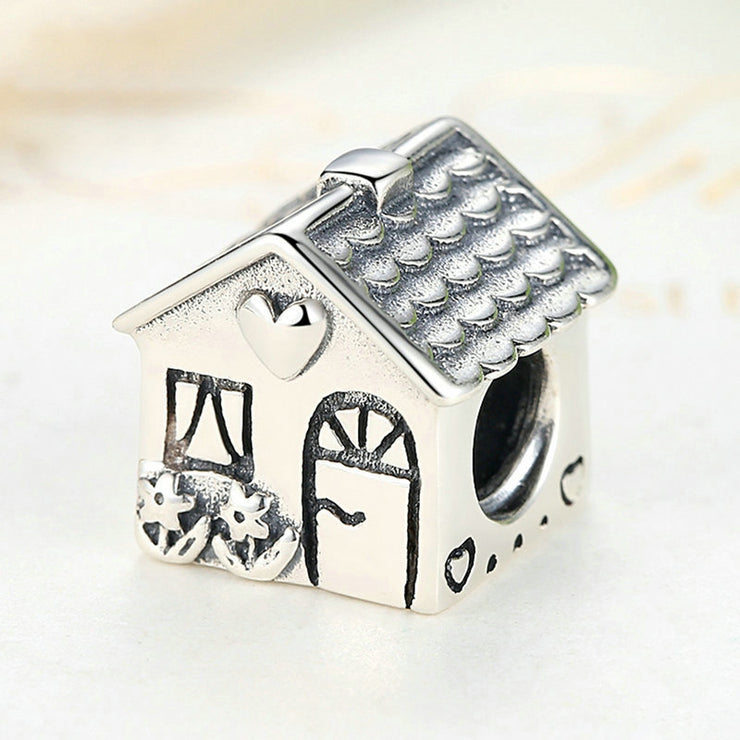 Sweet Home Happy Family Sterling Silver Bead